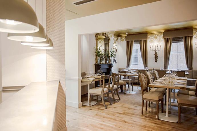"""<strong><a href=""""http://www.opentable.com/the-punchbowl-london"""">The Punch Bowl</a></strong><br> Where: 41 Farm St<br> Model customers: Edie Campbell"""