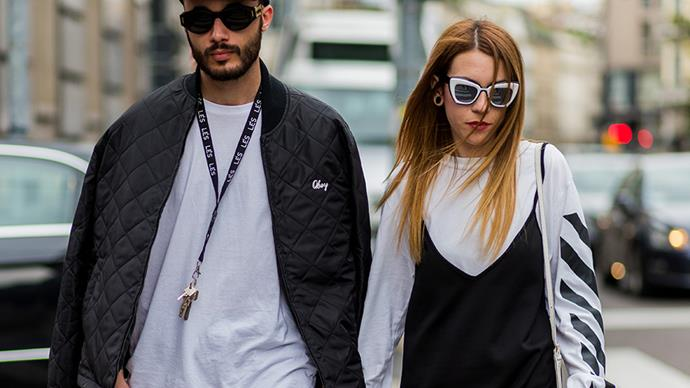 Cool Street Style Couple in Milan
