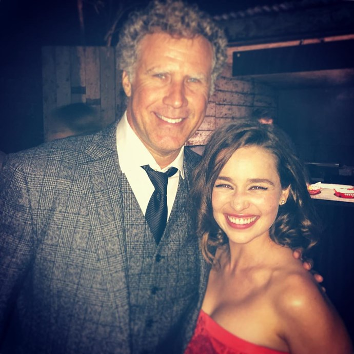 "<p>She was so excited to <a href=""https://www.instagram.com/p/7ZRklhI1Pd/"" target=""_blank"">meet Will Ferrell</a>."