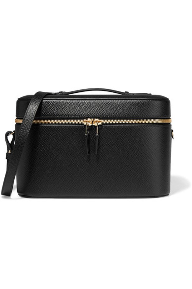 "<p>Keep your jewellery, makeup and beauty products all together in this sleek case.<p><br> <a href=""https://www.net-a-porter.com/au/en/product/731430/smythson/panama-textured-leather-vanity-case"">Vanity case, $1,737, Smythson at net-a-porter.com</a>"