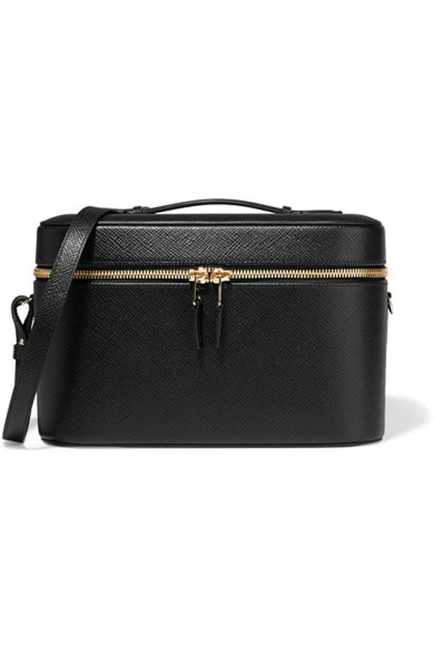 """<p>Keep your jewellery, makeup and beauty products all together in this sleek case.<p><br> <a href=""""https://www.net-a-porter.com/au/en/product/731430/smythson/panama-textured-leather-vanity-case"""">Vanity case, $1,737, Smythson at net-a-porter.com</a>"""