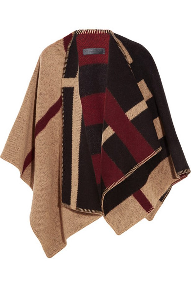 "<p>Keep warm and stylish with a Burberry multi-coloured wrap, which doubles as a blanket.<p><br> <a href=""https://www.net-a-porter.com/au/en/product/752036/burberry_london/london-checked-wool-and-cashmere-blend-wrap"">Wrap, $2,295, Burberry at net-a-porter.com</a>"
