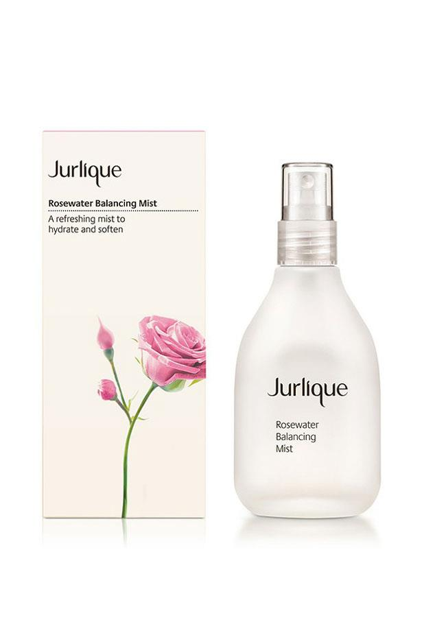 """<p>Wake up your skin with a few spritzes with rose-water, which hydrates and restores complexion.<p><br> <a href=""""http://www.jurlique.com.au/rosewater-balancing-mist"""">Rose-water mist, $35, Julique</a>."""