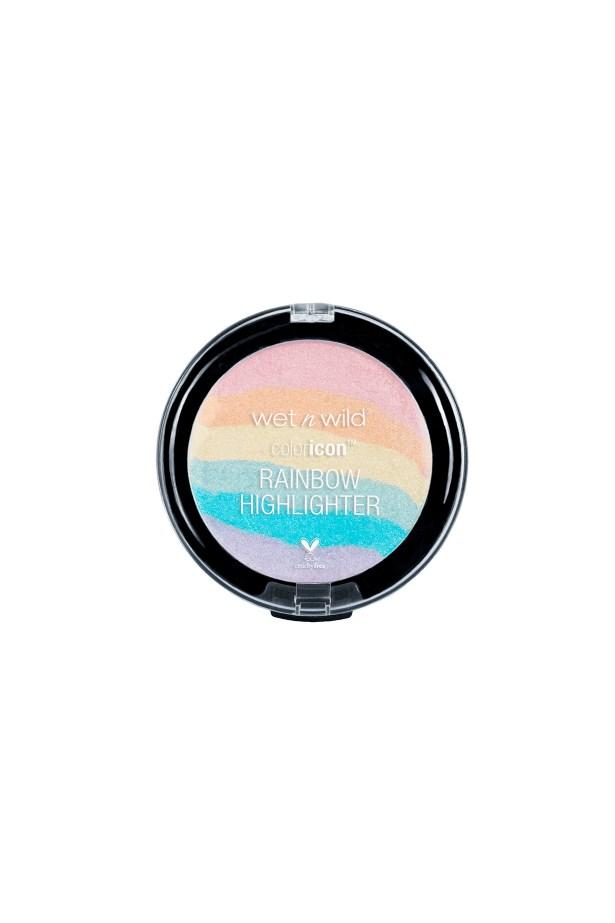 "Rainbow Highlighter, $6.50, <a href=""http://www.wetnwildbeauty.com/face/highlight-contour/color-icon-rainbow-highlighter.html"">Wet n Wild</a>."