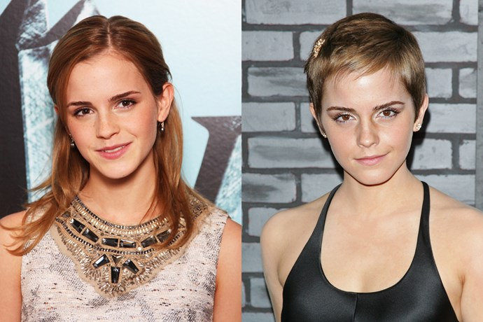 After wrapping filming on the very last 'Harry Potter' movie, Emma Watson shocked her fanbase with this dramatic pixie chop.