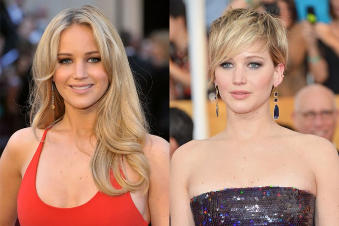 Jennifer Lawrence committed to her long hair for the duration of 'The Hunger Games', but as soon as that wrapped she went straight for the clippers.