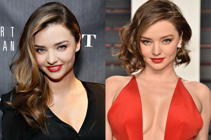 It might have only been a few inches but Miranda Kerr's bob was quite a change for the ex-Victoria's Secret Angel.