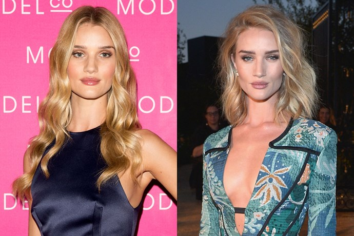 The same goes for Rosie Huntington-Whiteley, who moved from our 'long hair goals' list to our 'short hair goals' list.