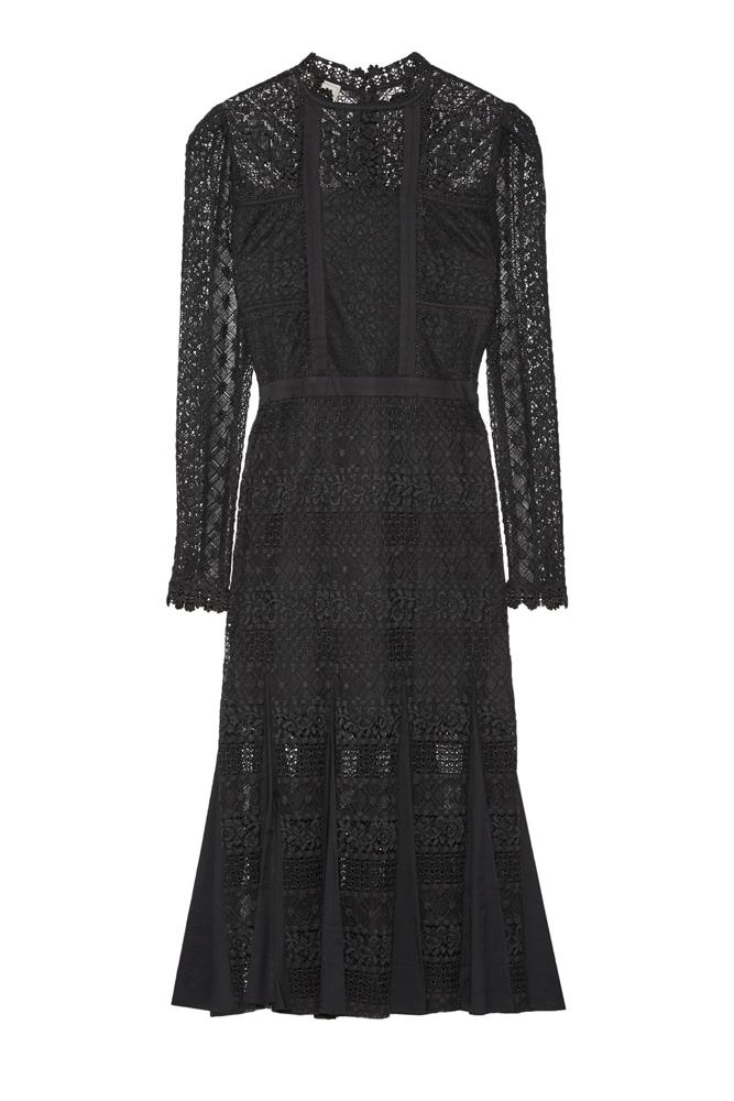 "<a href=""https://www.net-a-porter.com/au/en/product/717583/temperley_london/desdemona-paneled-guipure-lace-midi-dress"">Dress, $984, Temperley London at net-a-porter.com</a>"