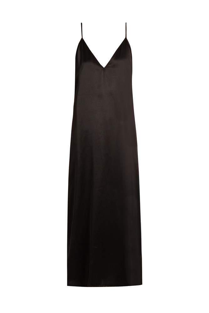 "<a href=""http://www.matchesfashion.com/au/products/Raey-Deep-V-neck-silk-satin-midi-slip-dress-1087288"">Dress, $263, Raey at matchesfashion.com</a>"