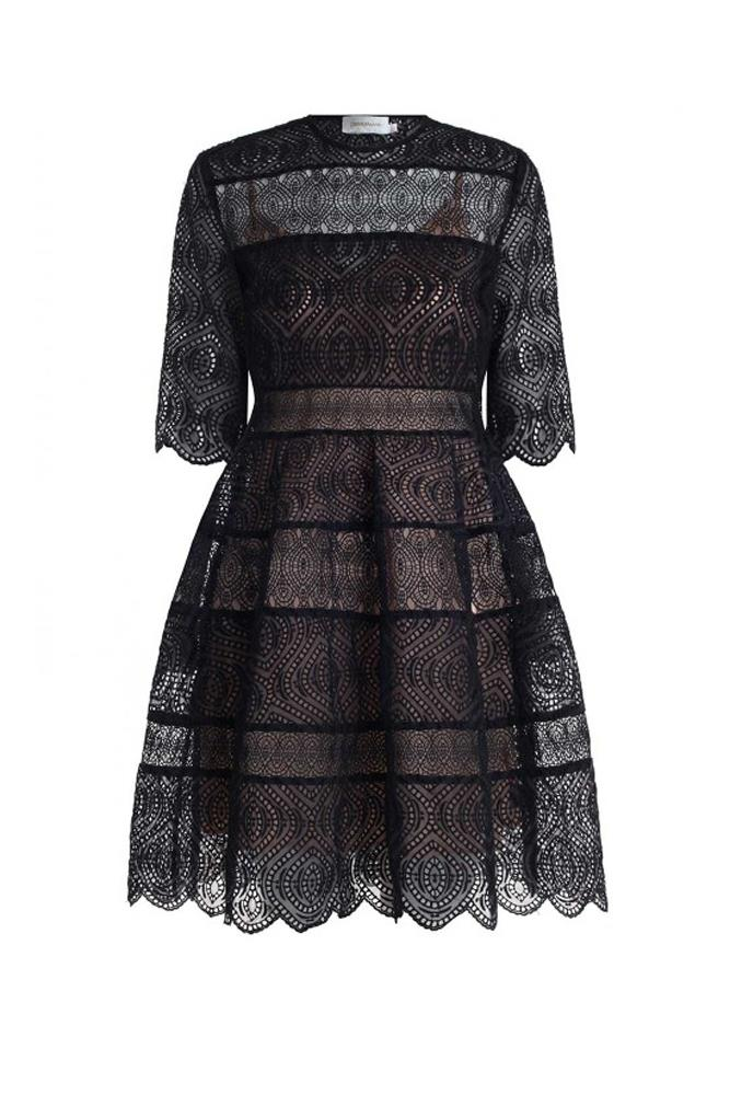 "<a href=""https://www.zimmermannwear.com/readytowear/clothing/dresses/lavish-embroidered-bell-dress-black.html"">Dress, $895, Zimmermann</a>"