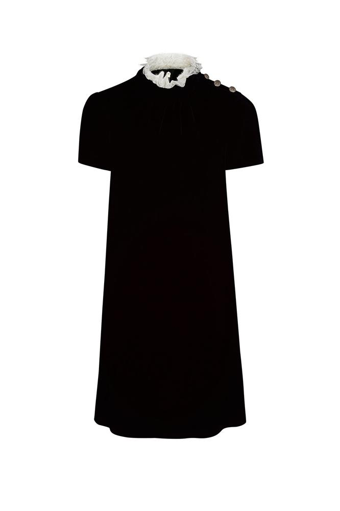 "<a href=""http://www.avenue32.com/uk/black-velvet-lace-collared-dress/PHL00116020341.html"">Dress, approx. $1092, Philosophy di Lorenzo Serafini at avenue32.com</a>"