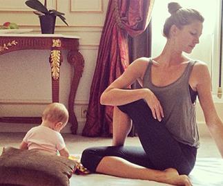 Gisele Bundchen yoga.