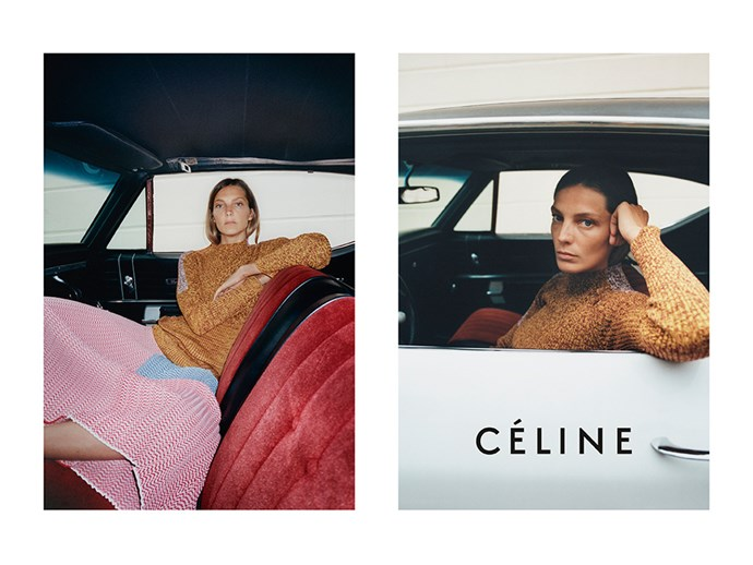 Daria Werbowy channelling Joan Didion for Céline's SS15 campaign