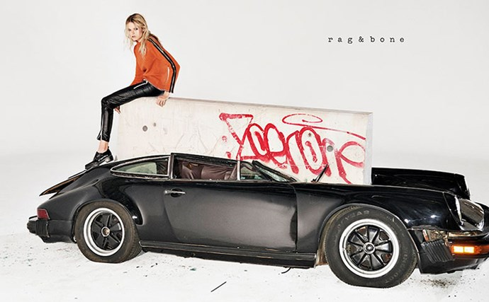 Rag & Bone stirred controversy when they crushed a vintage Porsche in the name of their AW15 campaign