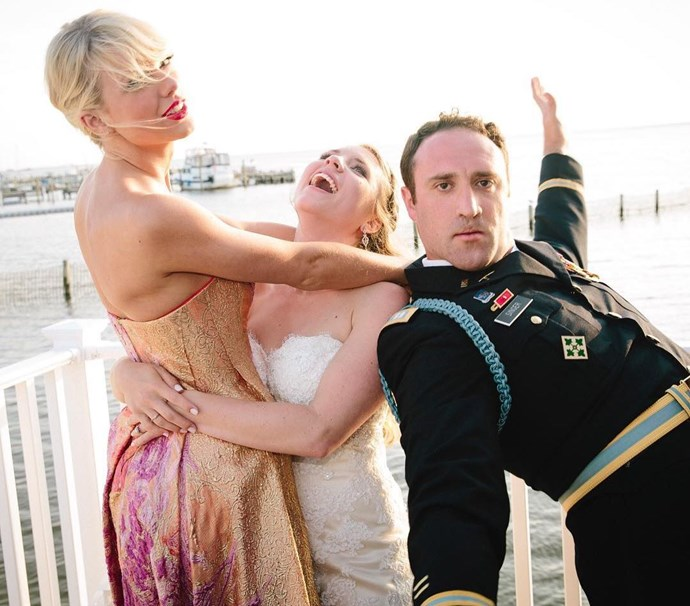 """<p><strong>Taylor Swift</strong> <p>Taylor Swift's experience as a wedding crasher was kind of planned. When Max Singer and Kenya Smith tied the knot, they were not expecting Taylor to be a surprise performer and sing a stripped-back version of her hit """"Blank Space."""" The whole thing was masterminded by Max's sister, Ali, who worked on the surprise for a few months. Taylor shared a photo of the wedding on Instagram and <a href=""""https://www.instagram.com/p/BGQLq_5DvCp/"""">called herself the third wheel</a>."""