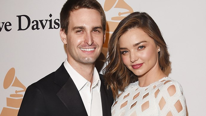 Miranda Kerr and Evan Spiegel.