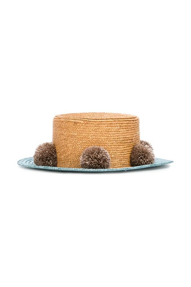 """<a href=""""https://www.farfetch.com/au/shopping/women/eshvi-eshvi-for-711-jupiter-hat-item-11325201.aspx?storeid=9950&from=listing&rnkdmnly=1&ffref=lp_pic_164_4_"""">Hat, $253, Eshvi at farfetch.com. </a>"""