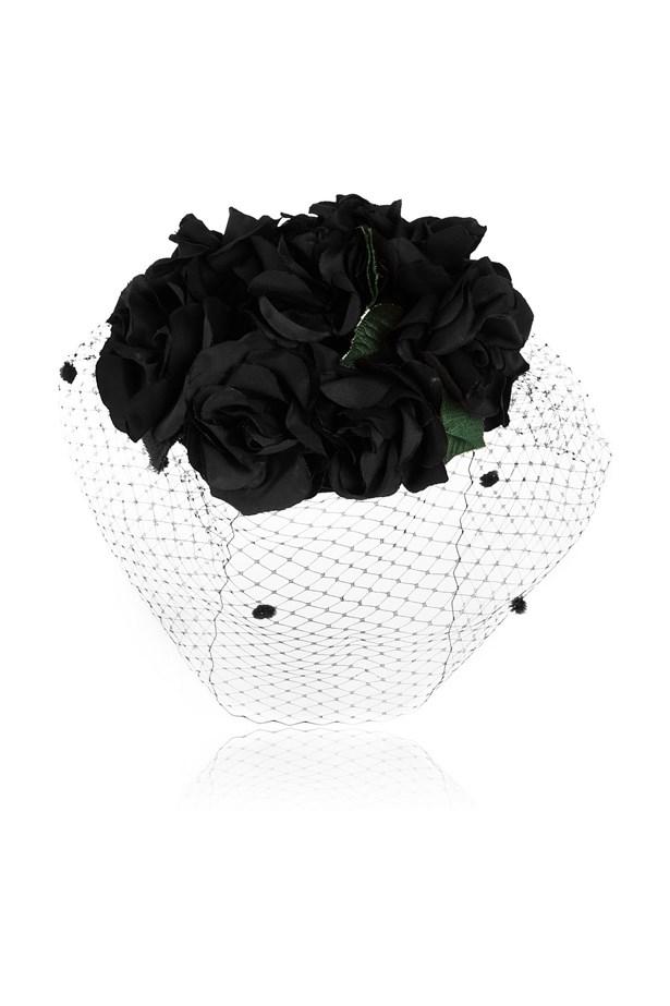 "<a href=""https://www.theoutnet.com/en-US/product/Benoit-Missolin/Grace-silk-and-rabbit-felt-headpiece/478402"">Headpiece, $392, Benoit Missolin at theoutnet.com.</a>"