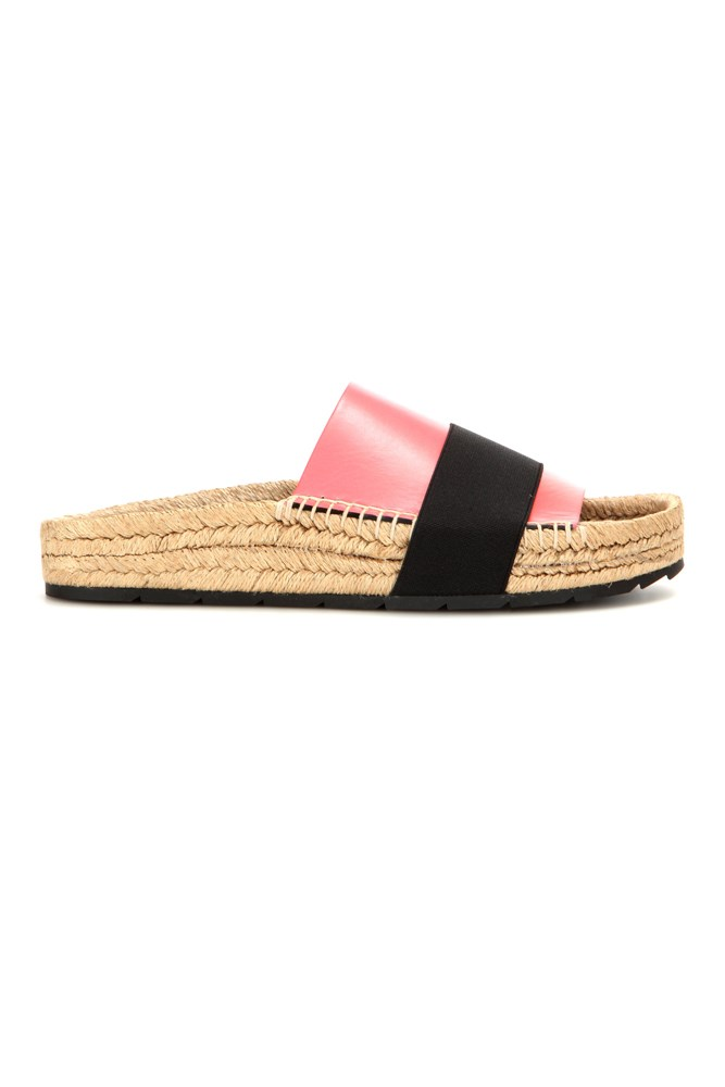 "<a href=""http://www.mytheresa.com/en-au/leather-slides-581186.html"">Slides, $500, Balenciaga at mytheresa.com</a>"