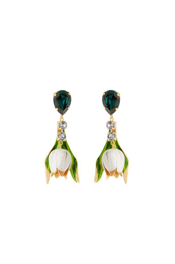 "Earrings, $853, Dolce & Gabbana at <a href=""http://www.matchesfashion.com/au/products/Dolce-%26-Gabbana-Citta-multicoloured-drop-earrings%09-1058302"">matchesfashion.com</a>."