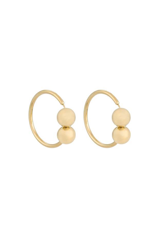 """Earrings, $408, <a href=""""https://www.farfetch.com/au/shopping/women/j-w-anderson-torque-style-earring-item-11566780.aspx?storeid=9359&from=listing&rnkdmnly=1&ffref=lp_pic_110_17_"""">J.W.Anderson at farfetch.com</a>."""
