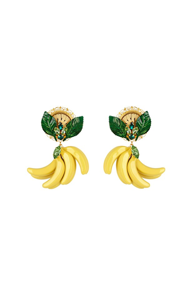 "Earrings, $913, <a href=""http://www.matchesfashion.com/au/products/Dolce-%26-Gabbana-Cerimonia-crystal-embellished-earrings-1058308"">Dolce & Gabbana at matchesfashion.com</a>."