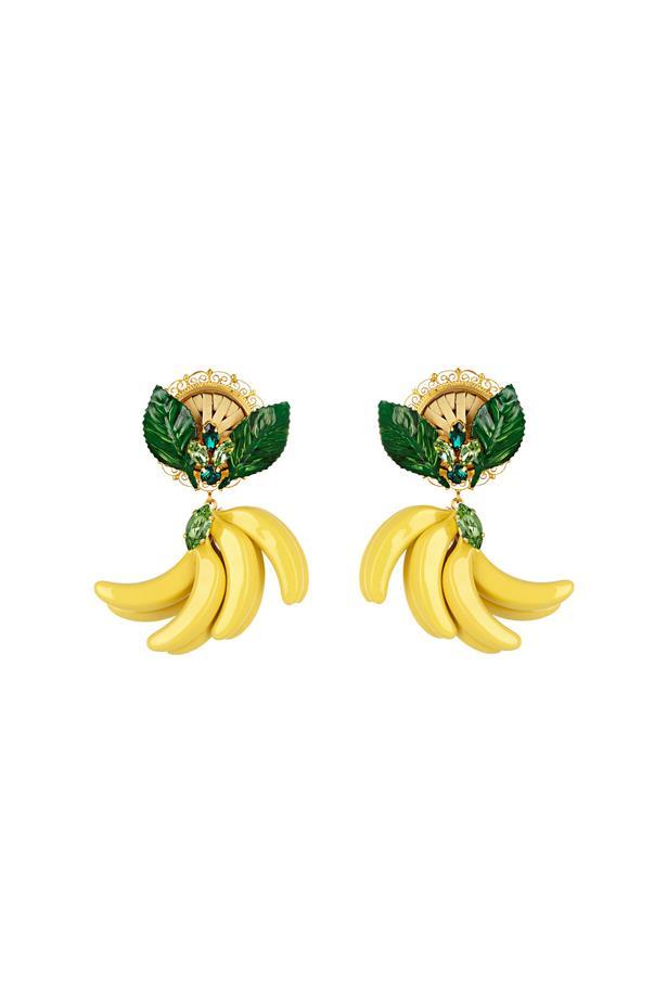 "Earrings, $913, <a href=""http://www.matchesfashion.com/au/products/Dolce-%26-Gabbana-Cerimonia-crystal-embellished-earrings-1058308"">Dolce & Gabbana at matchesfashion.com</a>."