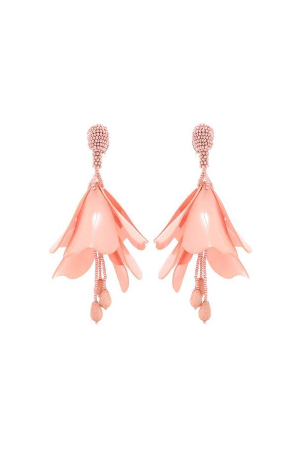 """Earrings, $669, <a href=""""http://www.mytheresa.com/en-au/impatiens-flower-drop-beaded-clip-on-earrings-597185.html?catref=category"""">Oscar de la Renta at mytheresa.com</a>."""