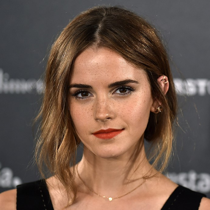 <p>Emma Watson schools us on how to do a cool faux bob.