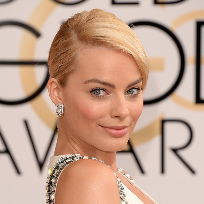 <p>Margot Robbie's low chignon is an all-time classic style.