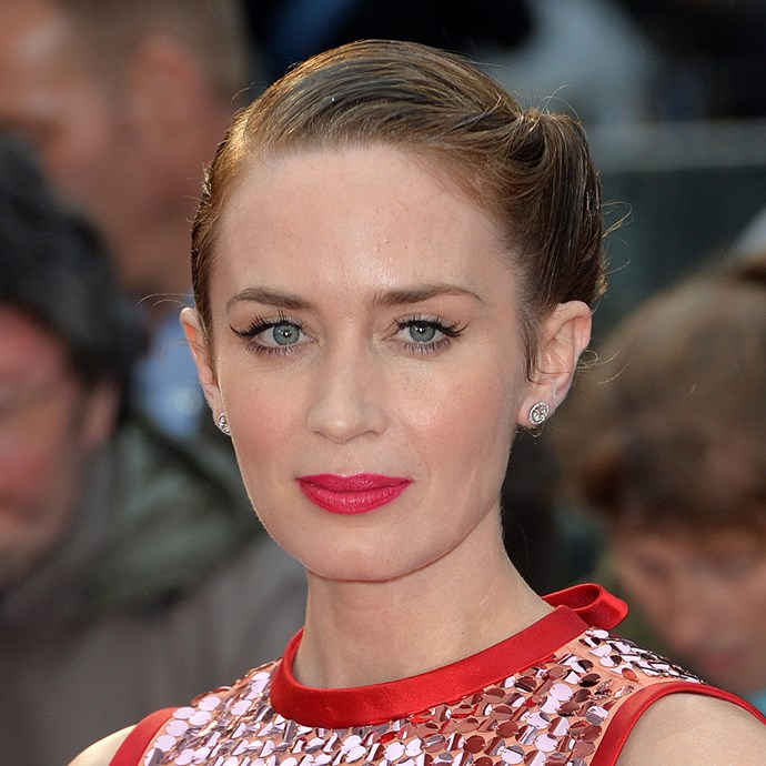 <p>Emily Blunt's twisted style is perfect for brides with aren't into braids.
