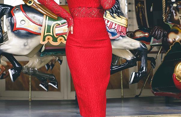 Stephanie Smith as Myer Fashions on the Field Ambassador