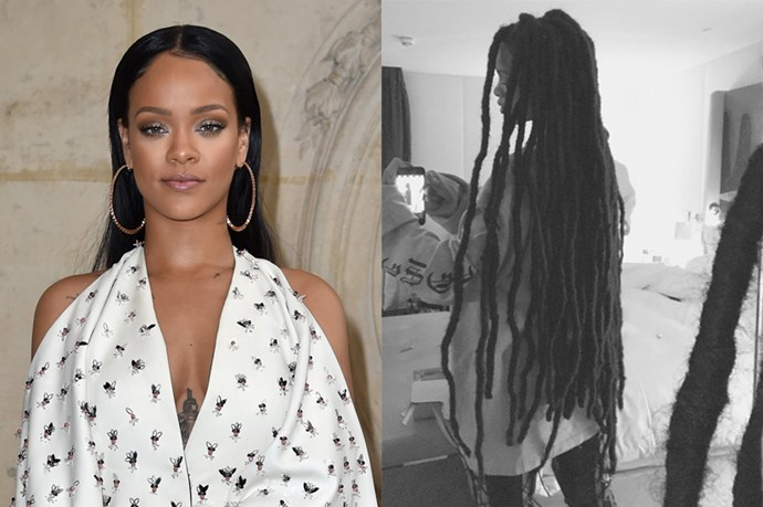 <p> <strong>Rhianna</strong></p> <p>Rihanna debuted her latest hairstyle on her Instagram today, waist-length dreadlocks.</p>