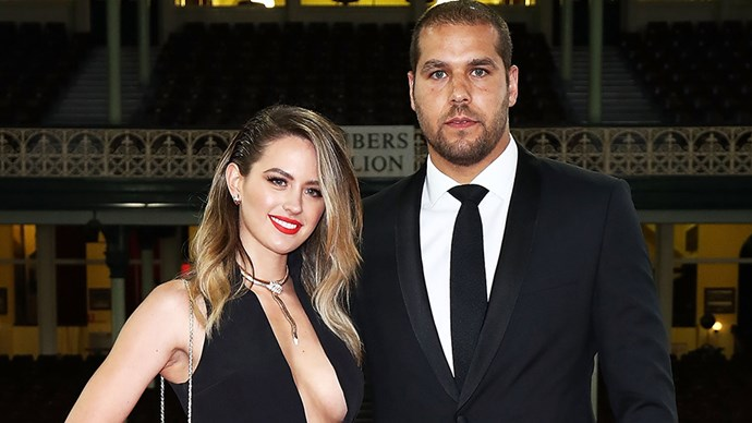 Jesinta Campbell and Buddy Franklin.