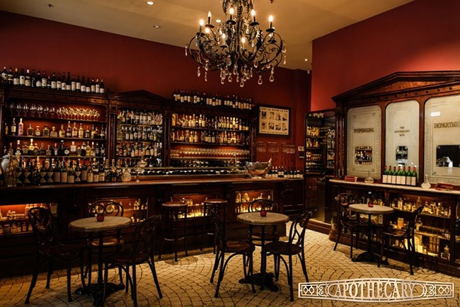 """<strong>Apothecary 1878, SA</strong> <br><br>Are you in Adelaide or a European wine bar in the 19th century? You won't be able to tell at Apothecary 1878, which combines a comprehensive wine list with a sexy, mysterious mood. <br><br><strong><a href=""""https://www.theapothecary1878.com.au/"""">apothecary1878.com.au</a> </strong>"""