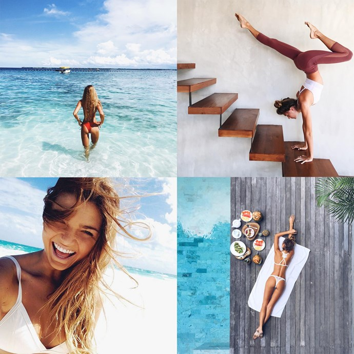 "<p> Name: Sjana Earp / @<a href=""https://www.instagram.com/sjanaelise/?hl=en"">sjanaelise</a><p> <p> Follower count: 1,200,000<p> <p> Known for: Her penchant for doing insane yoga poses in beautiful locations around the world and for her past fling with Harry Styles."