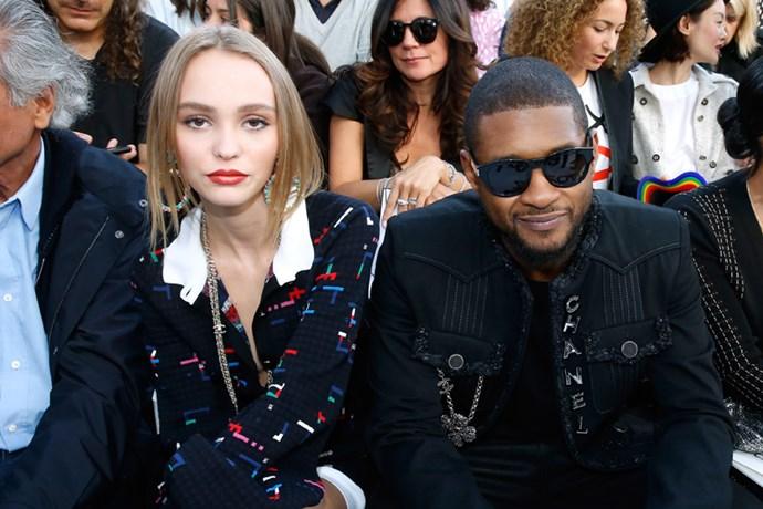 Lily-Rose Depp and singer, Usher.