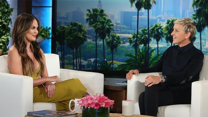 Chrissy Teigen On The Ellen DeGeneres Show October 2016