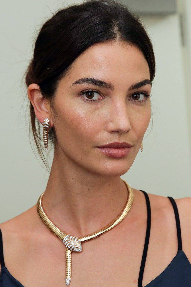 <strong>Lily Aldridge</strong><br> Aldridge was scouted at the age of 16 at a school carnival, her first modelling gig a campaign for all-American brand Abercrombie & Fitch.