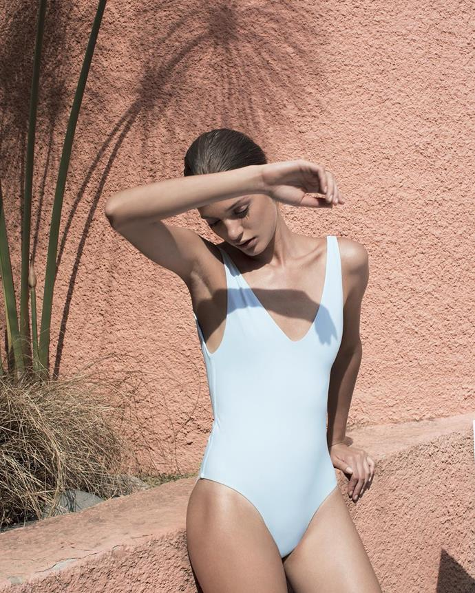 """<p>Label: Her Swim <p>Instagram handle: <a href=""""https://www.instagram.com/her__line/"""">@her__line</a> <p>Swimwear style: Minimalist in flattering colours."""