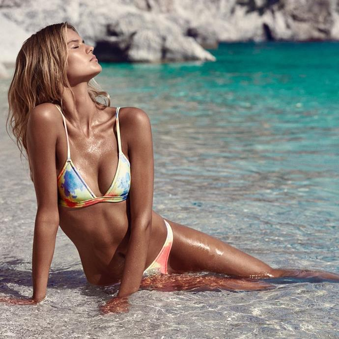 """<p>Label: Triangl <p>Instagram handle: <a href=""""https://www.instagram.com/triangl/"""">@triangl</a> <p>Swimwear style: The neoprene triangle style that started it all now comes in cute floral patterns."""