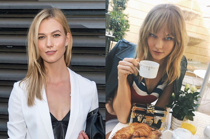<p> <strong>Karlie Kloss</strong></p> <p>Karlie Kloss finished her run at fashion week off with a bang... literally. She debuted this cute swept set on her Instagram.</p>