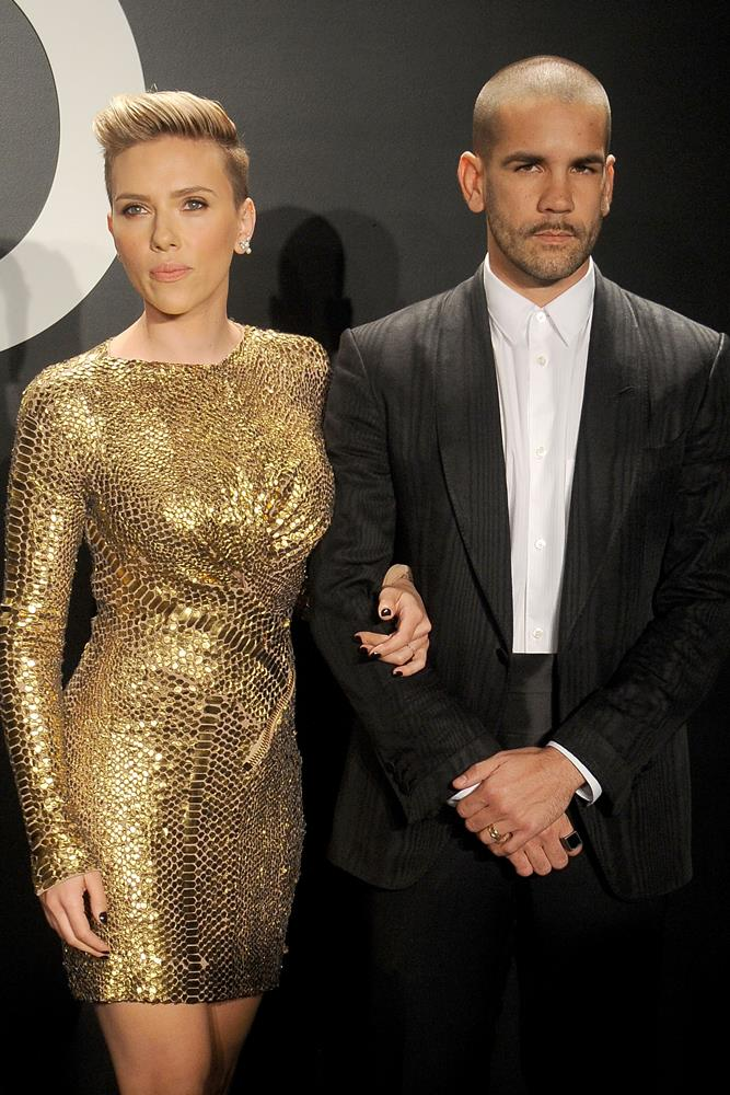 <strong>Scarlett Johansson and Romain Dauriac </strong><br> It's believed the pair met through tattoo artist and mutual friend Fuzi Uvtpk, who's responsible for ink on both of them respectively.