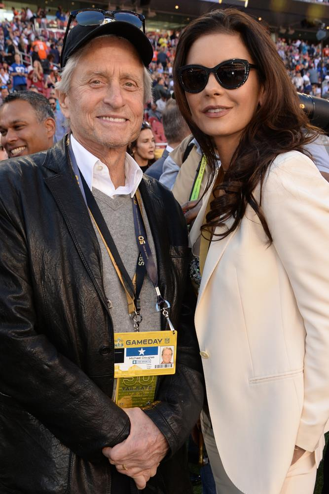 "<strong>Michael Douglas and Catherine Zeta-Jones</strong><br> Though separated, it was love at first sight for both Zeta-Jones and Douglas when they were introduced by Danny DeVito at a French film festival in 2000. Douglas reportedly told the then stranger that he wanted to father her children, and Zeta-Jones later said: ""I was in love with my husband at first sight."""