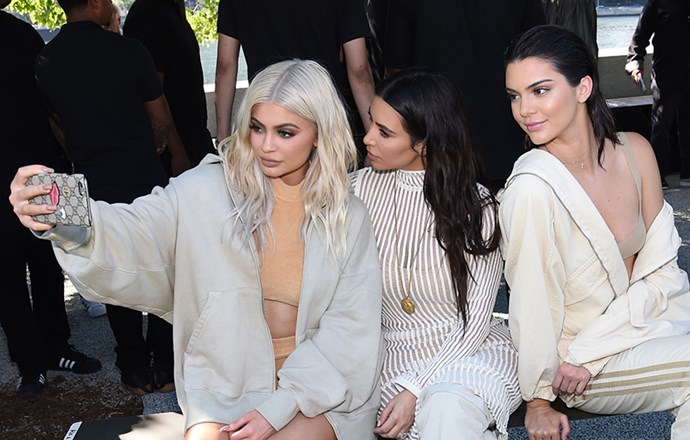 Kylie Jenner, Kim Kardashian and Kendall Jenner at YEEZY Season 4 2016 NYFW
