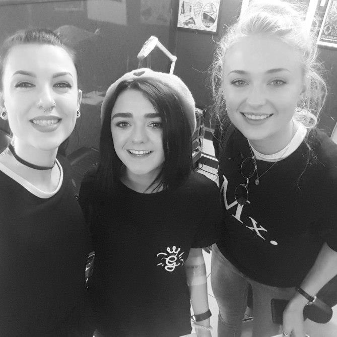**Maisie Williams and Sophie Turner** <br><br> Pals Maisie and Sophie from <em>Game of Thrones</em> both went for the date they found out they were cast in the hit series.
