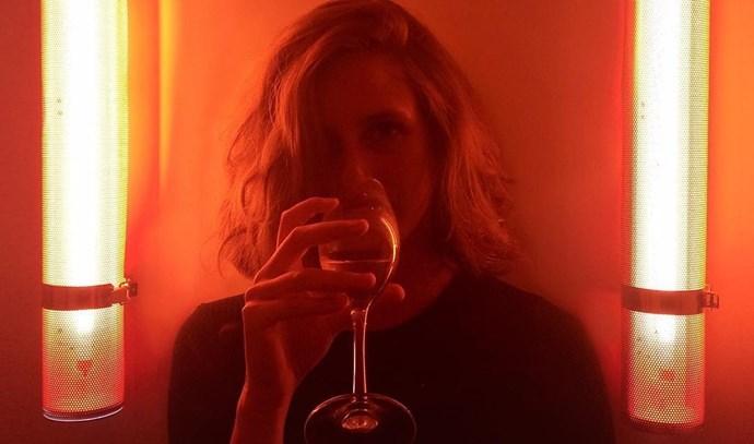 louise delage instagram drinking wine