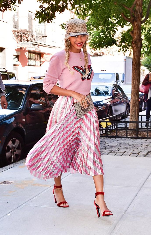 beyonce sighting new york wearing gucci