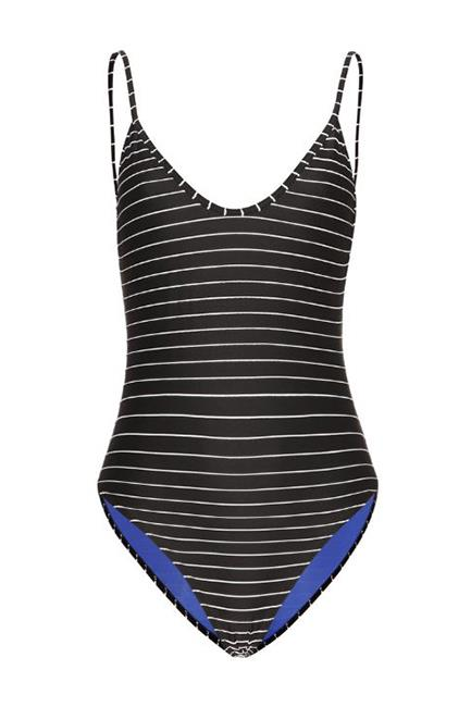 """<p>Hutton Striped Swimsuit, $305, <a href=""""http://www.mytheresa.com/en-au/hutton-striped-swimsuit-585833.html?catref=category"""" target=""""_blank"""">Bower Swimwear at mytheresa.com</a>."""